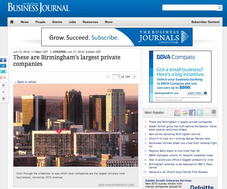 Birmingham's Largest Private Companies